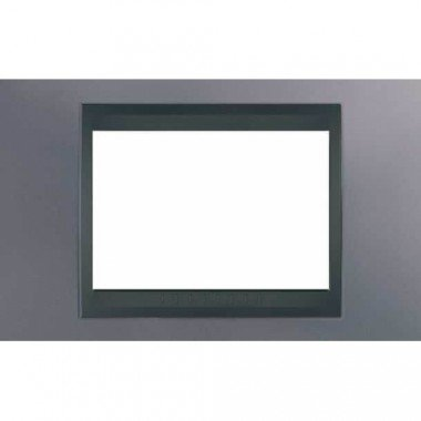 Рамка 3-модульная  Schneider Electric Unica ТОР, голубой берил/графит - описание, характеристики, отзывы
