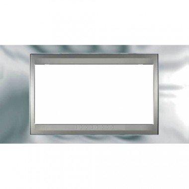 Рамка 4-модульная  Schneider Electric Unica ТОР, хром глянцевый/алюминий - описание, характеристики, отзывы