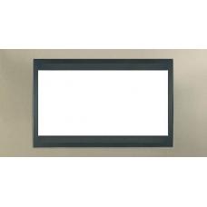 Рамка 4-модульная  Schneider Electric Unica ТОР, никель матовый/графит