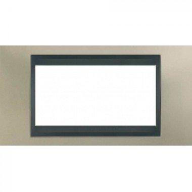 Рамка 4-модульная  Schneider Electric Unica ТОР, никель матовый/графит - описание, характеристики, отзывы