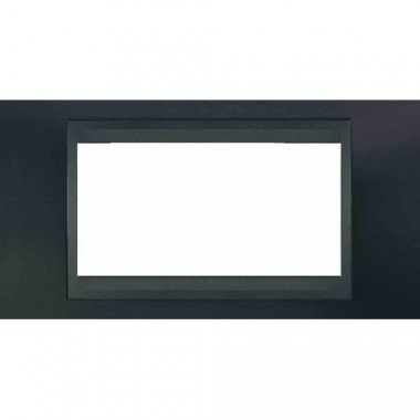 Рамка 4-модульная  Schneider Electric Unica ТОР, металлик/графит - описание, характеристики, отзывы