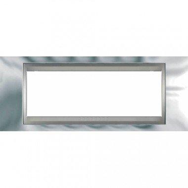 Рамка 6-модульная  Schneider Electric Unica ТОР, хром глянцевый/алюминий - описание, характеристики, отзывы