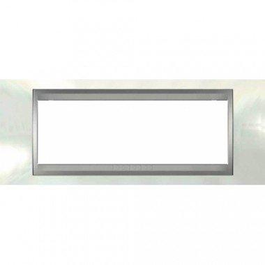 Рамка 6-модульная  Schneider Electric Unica ТОР, белоснежный/алюминий - описание, характеристики, отзывы