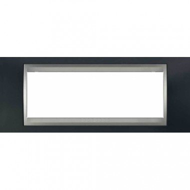 Рамка 6-модульная  Schneider Electric Unica ТОР, металлик/алюминий - описание, характеристики, отзывы