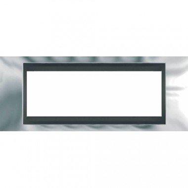 Рамка 6-модульная  Schneider Electric Unica ТОР, хром глянцевый/графит - описание, характеристики, отзывы