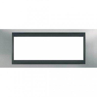 Рамка 6-модульная  Schneider Electric Unica ТОР, хром матовый/графит - описание, характеристики, отзывы