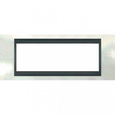 Рамка 6-модульная  Schneider Electric Unica ТОР, белоснежный/графит - описание, характеристики, отзывы