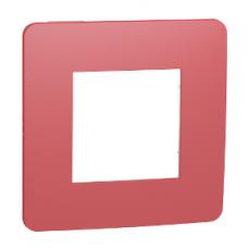 Рамка 1-постовая, Красный/белый