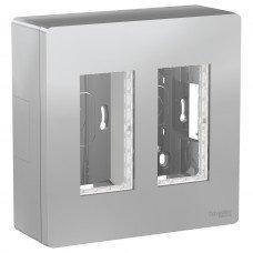 Блок unica system+ открытая установка 2х2, Алюминий