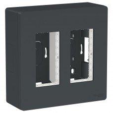 Блок unica system+ открытая установка 2х2, Антрацит