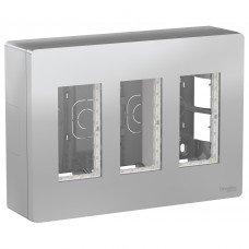 Блок unica system+ открытая установка 3х2, Алюминий