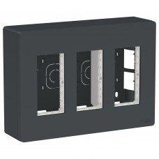 Блок unica system+ открытая установка 3х2, Антрацит