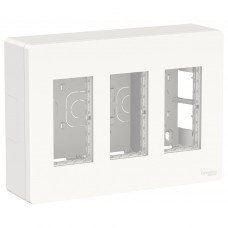 Блок unica system+ открытая установка 3х2, Белый