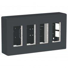 Блок unica system+ открытая установка 4х2, Антрацит