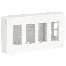 Блок unica system+ открытая установка 4х2, Белый