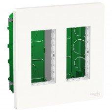 Блок unica system+ скрытая установка 2х2, Белый