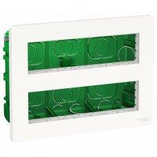 Блок unica system+ скрытая установка 2х4, антибактериальный