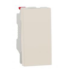Переключатель 1-клавишный перекрестный схема 7, 10А, 1 модуль, Бежевый