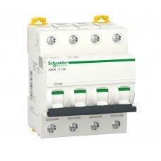 Автоматический выключатель iK60 4P 10A C, Schneider electric