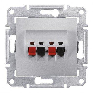 Аудиорозетка Schneider Electric Sedna, алюминий - описание, характеристики, отзывы