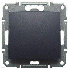 Выключатель кнопочный 1-клавишный Schneider Electric Sedna, графит