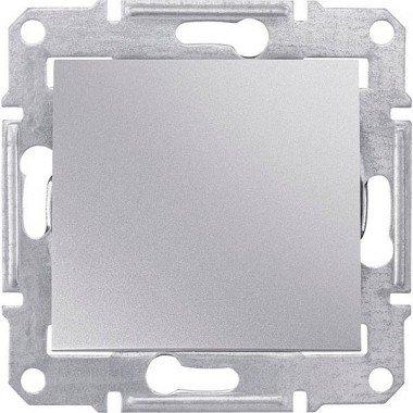 Переключатель 1-клавишный Schneider Electric Sedna, алюминий - описание, характеристики, отзывы