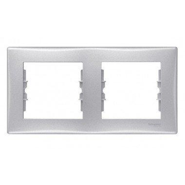 Рамка 2-постовая горизонтальная Schneider Electric Sedna, алюминий - описание, характеристики, отзывы
