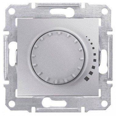 Светорегулятор поворотно-нажимной индуктивный Schneider Electric Sedna, алюминий - описание, характеристики, отзывы