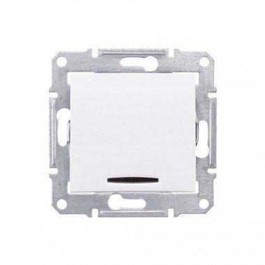 Выключатель 1-клавишный с подсветкой Schneider Electric Sedna, белый - описание, характеристики, отзывы