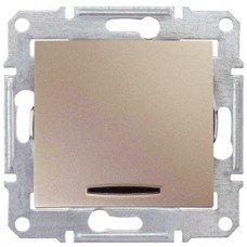 Выключатель 1-клавишный с подсветкой Schneider Electric Sedna, титан