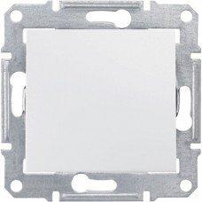 Выключатель 1-клавишный Schneider Electric Sedna, белый