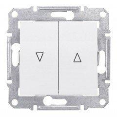 Выключатель для жалюзи с электрической блокировкой Schneider Electric Sedna, белый