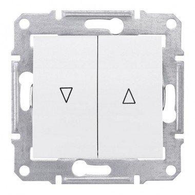 Выключатель для жалюзи с механической блокировкой Schneider Electric Sedna, белый - описание, характеристики, отзывы
