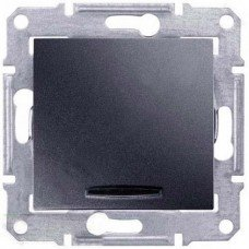 Выключатель 1-клавишный с подсветкой Schneider Electric Sedna, графит