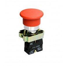 Кнопка-грибок XB2-BC42 1NC, без подсветки, красная, TNSy