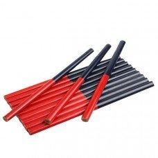 Карандаш плотницкий 180мм, овальный двехцветный (12шт/уп) поштучно TOLSEN