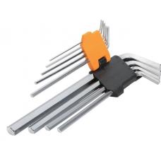 Комплект удлиненных шестигранных ключей 9 шт 1.5-10мм
