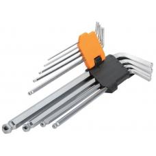 Комплект удлиненных ключей Торкс с отверстием 9 шт Т10-Т50