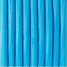 Провод в тканевой оплётке 9 (голубой)  2х0,5