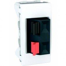Аудиорозетка, 1м, Schneider Electric Unica, белый