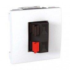 Аудиорозетка, 2м, Schneider Electric Unica, белый