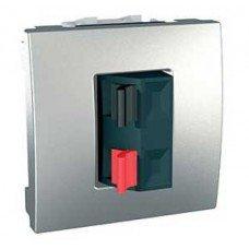 Аудиорозетка, 2 модуля, Schneider Electric Unica, алюминий