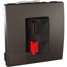 Аудиорозетка, 2 модуля, Schneider Electric Unica, графит