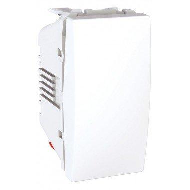 Переключатель 1-клавишный, 1м, Schneider Electric Unica, белый - описание, характеристики, отзывы