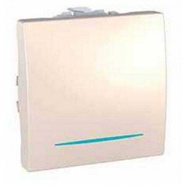 Переключатель 1-клавишный с подсветкой, 2м, Schneider Electric Unica, слоновая кость - описание, характеристики, отзывы