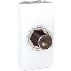 Розетка TV, одиночная, гнездовой разъем, 1м, Schneider Electric Unica, белый