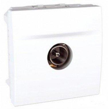 Розетка TV, одиночная, штырьевой разъем, 2м, Schneider Electric Unica, белый - описание, характеристики, отзывы