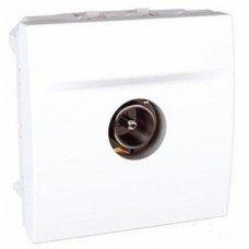 Розетка TV проходная штырьевой разъем 2м, Schneider Electric Unica, белый