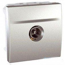 Розетка TV проходная штырьевой разъем 2м, Schneider Electric Unica, алюминий