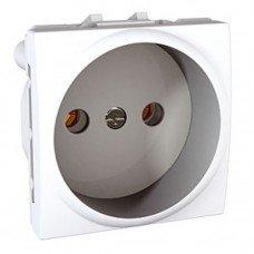 Розетка без заземления с защитными шторками, 2м, Schneider Electric Unica, белый